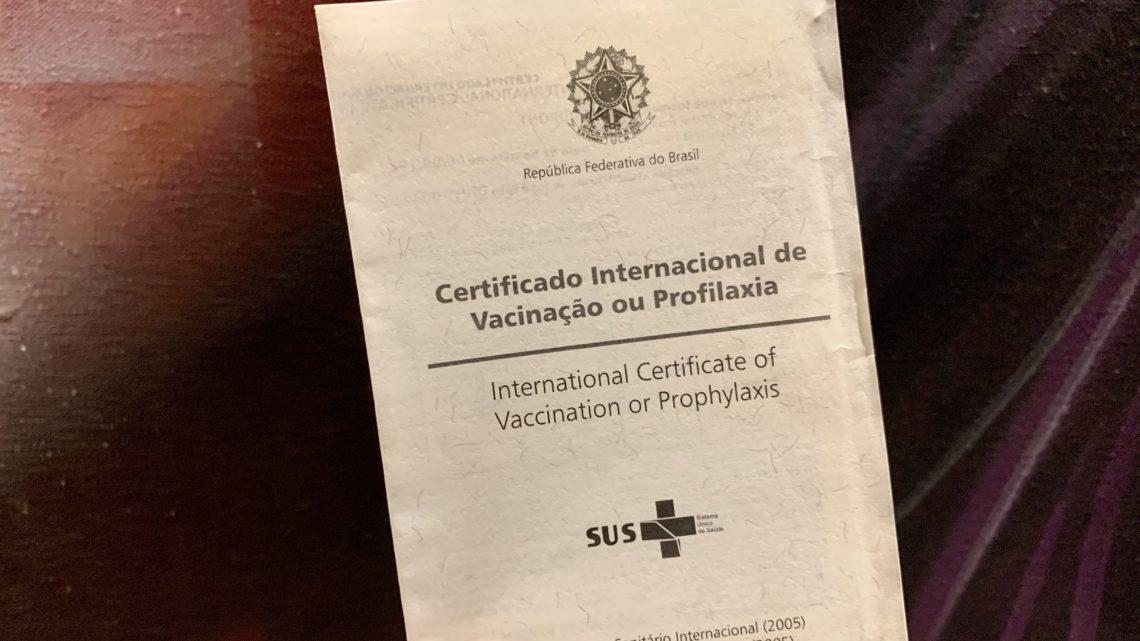 Como Fazer o Certificado Internacional de Vacinação
