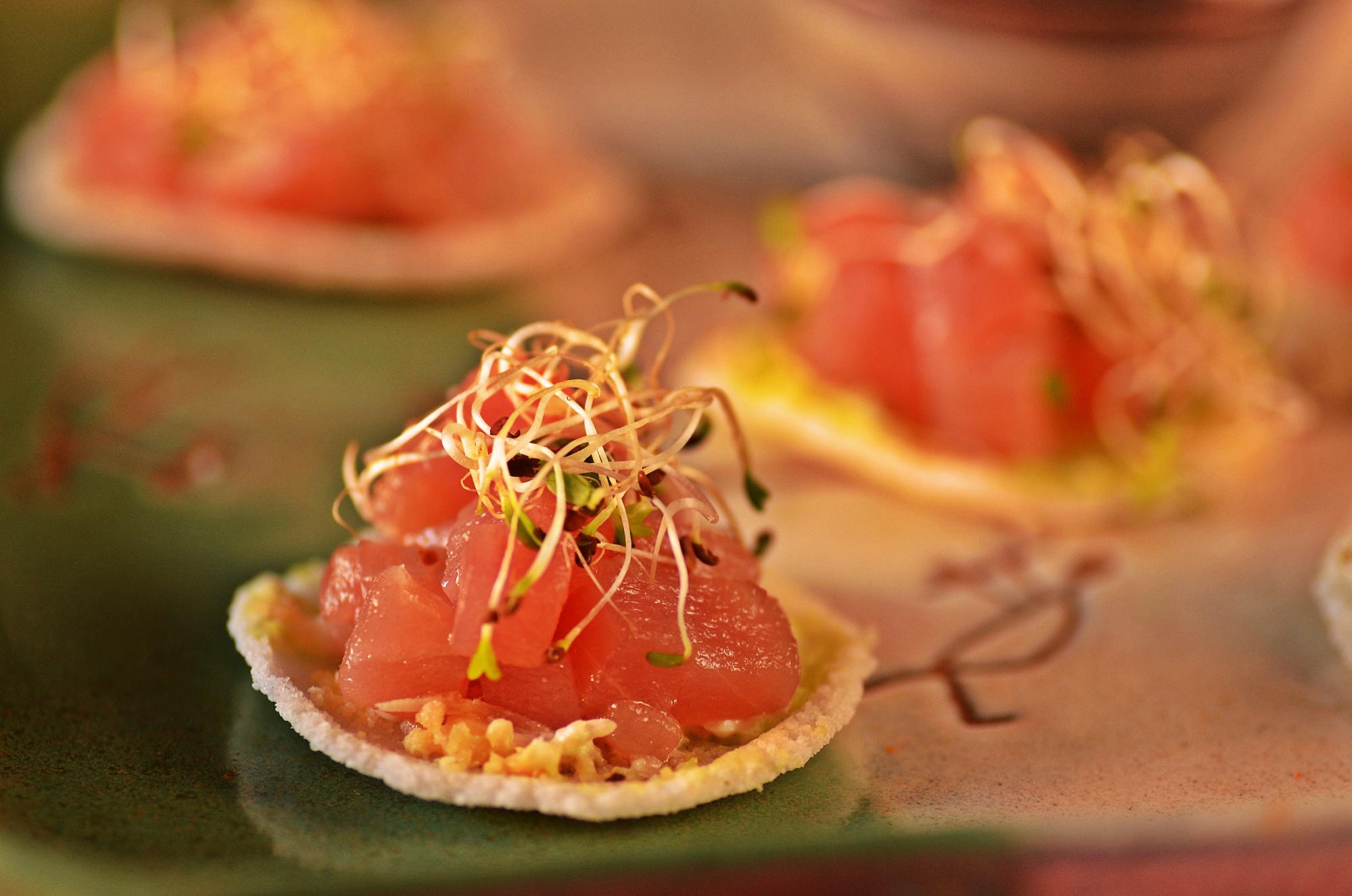 Receita de tartar de atum em tapioca
